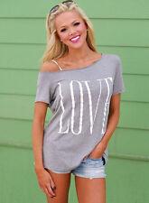 Women's Loose Short Sleeve Cotton Casual Blouse Shirt Tops Fashion T-shirt New