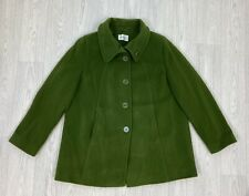 EASTEX Green Virgin Wool & Cashmere Pea Coat Size 12