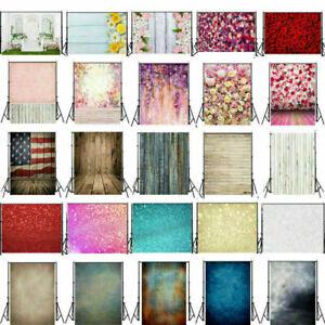 Flower Glitter Retro Plank Photography Background Photo Backdrops Studio Props