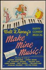 MAKE MINE MUSIC! Movie POSTER 27x40 B Nelson Eddy Dinah Shore Benny Goodman The