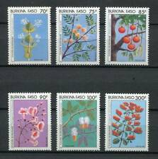 38799) Burkina Faso 1987 MNH Flowers 6v