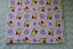 Disney Winnie the Pooh Bear Baby Blanket Pink Hunny Honey Pot Fleece Security