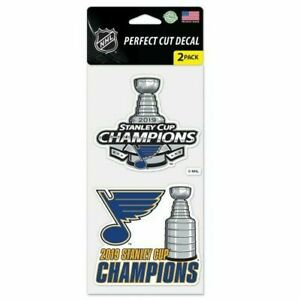 St Louis Blues Wincraft 2019 NHL Stanley Cup Champions 4x4 Decal Set 2 Pc FREE