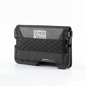 Front Pocket Wallet for Men Travel Tactical bifold RFID Aluminum Leather Wallet