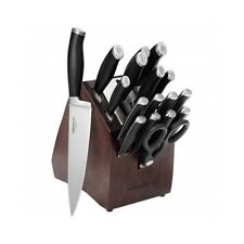 Calphalon Knife Block Set Cutlery Self Sharpening Piece 18 Wood Storage Knives