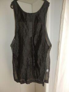 eva&claudi - ausgefallenes Überkleid, Long Tunika, schwarz, ärmellos M Gr. 40 42