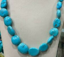 """Genuine Natural Egyptian Turquoise Necklace 22"""""""