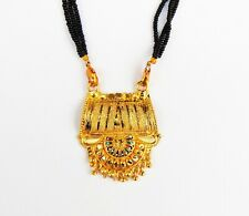 18k Gold Plated Pendant  Indian Wedding Necklace Mangalsutra Chain Women Jewelry