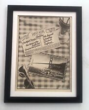More details for grateful dead / santana wembley 1976*original*poster*ad*framed*fast world ship