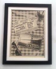 GRATEFUL DEAD / SANTANA Wembley 1976 *ORIGINAL *POSTER *AD *FRAMED* Advert