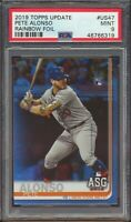 46766319 2019 Topps Update US47 Pete Alonso Rainbow Foil ASG RC Rookie PSA 9