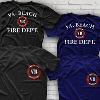 Firefighter Virginia Beach Fire Department T-Shirt Black Navy S-3XL