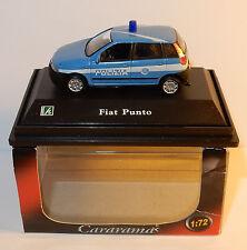 CARARAMA HONGWELL FIAT PUNTO POLIZIA POLICE ITALIENNE 1/72 IN BOX