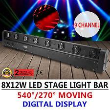 8X12W Beam Lichtleiste Bühnenbeleuchtung  Sweeper Beleuchtung Moving Head