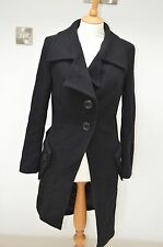 Vivienne Westwood Anglomania Black Wool Button Trench Coat Womens EU 42 UK 10