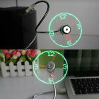 LED Clock Fan Mini USB Powered Cooling Flashing Real Time Display Function M
