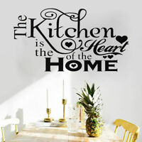 Kitchen Nice Heart Home Quote Wall Stickers Art Dining Room Removable Decals DIY