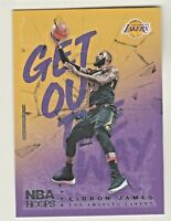 2018-19 Panini Hoops GET OUT THE WAY #GOW-3 LeBRON JAMES Los Angeles Lakers