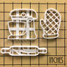 Set of 3 Baking Tools cookie cutters: Stand Mixer, Oven Glove, Rolling Pin