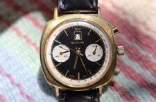 Vintage 1960's Glycine Chronograph Reverse Panda Dial AKA Poor Mans Heuer Camaro