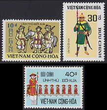VIETNAM du SUD N°438/440** Gardes forestiers 1972 South Viet Nam Sc#433-435 MNH