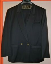 VINTAGE 'GIANNI VERSACE'  SUIT - DK GRAY- JACKET 38-40'ISH - TROUSERS 34
