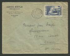 SURTAXE 50C +10C P/ LES CHOMEURS / SEUL/ LETTRE ST ETIENNE 12.1935 P/ ANNECY