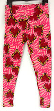 Lularoe TC Plus Size Leggings Pink Red Heart Unicorn Valentines Soft Stretch