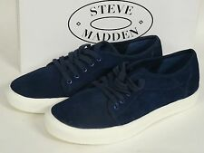 STEVE MADDEN ESENTIAL CASUAL LACE BLUE SUEDE ITALY MENS SHOES sz 9 NEW IN BOX