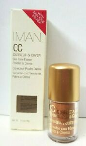 IMAN CC Correct & Cover Skin Tone Evener 0.14 oz EARTH MEDIUM SEALED