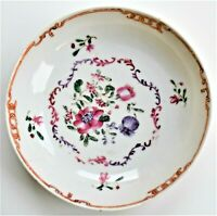 Antique New Hall 19th century Hand painted Saucer Floral 12cm wide c.1810