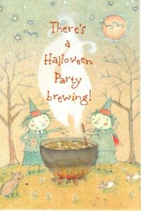 Witch Witches Brew Cauldron Halloween Party Invitations By Gibson - Set of 8