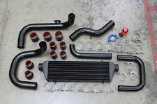 Black Intercooler Piping Kit Bolt On D15 D16 B16 B18 Si Dc2 Gsr Eg Ek Em Em1
