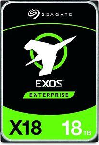 (2) Seagate Exos X18 18TB Enterprise HDD - SATA 6Gb/s, 7200 RPM. Total 36 TB!