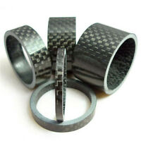 "5Pcs Bicycle Handle Bar Stem Carbon Fiber Gloss Spacer 1-1/8"" 3/5/10/15/20mm ME"