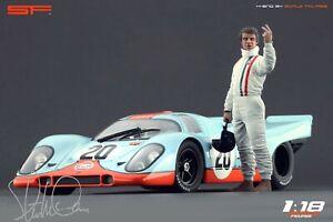 1:18 Steve McQueen Le Mans NO CAR !RARE figurine for 1:18 Autoart Porsche 917 SF