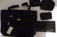 Gloria Vanderbilt tote with wallet, coin purse,cosmetic case and tissue holder
