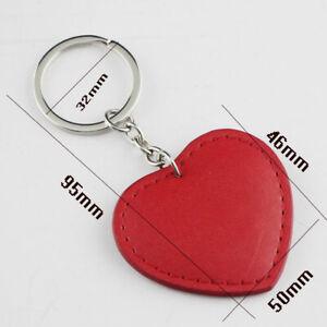 Love Heart Keyring Red Leather Keyring Bag Hang Purse Tag Mobile Tag Gift