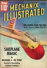1939 Mechanix Illustrated August - solar power; Shibe Park; Mini-bike;motorcycle