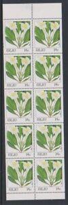 Océanie - 1987,14c Sapin, Fleurs Livret Volet - MNH - Sg 176