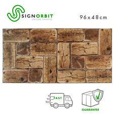 Pannelli parete in PVC finto legno effetto 3D 96x48cm kit di2Pz decorazione muro