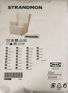 IKEA Strandmon Bezug für Sessel in beige 404.722.72 Schonbezug NEU OVP Cover