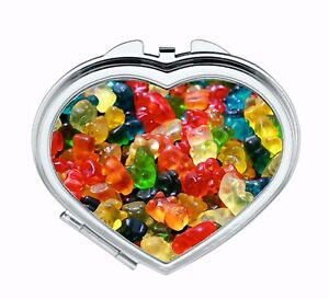 Gummy Bears Compact Mirror Sweets Candy Retro Makeup Mirror Favour ThankYou Gift