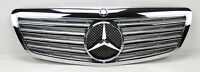 Mercedes S Class W221 07-09 Front Hood Sport 4 Fin Silver Chrome Grill Grille
