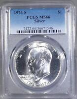 1976 - S  Silver Eisenhower Dollar -  PCGS  MS66
