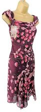 M&Co ladies occasion dress size 8 petite glitter encrusted rose cocktail wedding