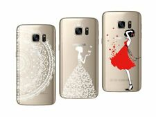 Samsung Galaxy S7 - Paquete de 3 Carcasas Gel Suave con Estampado Divertido