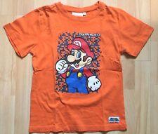 NINTENDO Super Mario - T-shirt orange imprimé manches courtes - Taille 10 ans