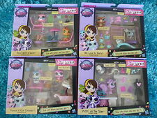 Hasbro Lot of 4 Littlest Pet Shop Themed Play Pack