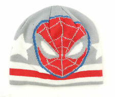 Marvel Ultimate Spider-Man Men's Adult White/Grey/Red Beanie Hat OSFM NEW